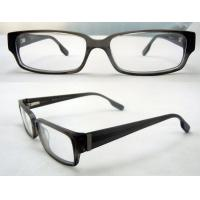 Buy cheap Cool Rectangular Mens Acetate Eyewear Frames, Black Optical Eyeglasses Frame from wholesalers