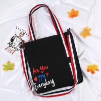 Buy cheap new summer oblique span single-shoulder canvas bag small fresh art student bag printed shopping bag product