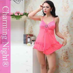 Elegant nylon polyester sheer sexy babydoll lingerie for adult arab