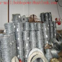 Buy cheap hot-dip galvanized steel coiled barbed wire/2018 hot sale galvanized or PVC coated barbed wire/barbed wire price per ton product
