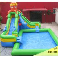 Commercial Inflatable Swimming Pool With Bouncy Slide Inflatable Pool Slide For Kids Of