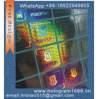 Buy cheap custom made serial number hologram sticker holographic label hologrm sticker product
