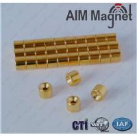 Buy cheap Customized Sheet Magnet N35 Gold Coating product
