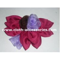 Quality Fashion Handmade ChiffonFlower Corsage With Black / Red / Purple Mixed for sale