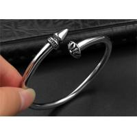 Punk Womens Black Open Bangle Bracelet With Customized Logo , CE Certisficated