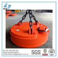 China Industrial Circular Type Crane Lifting Electromagnet for Lifting Steel Scraps on sale