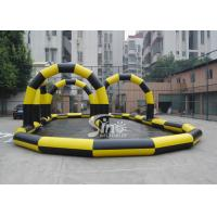 Buy cheap Custom made outdoor N indoor go karts inflatable race track for zorb balls and cars product