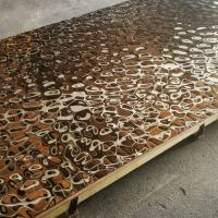 Buy cheap 2019 Steelcolor Aperam Supplier Water Ripple Pattern 1500*3000 Stainless Steel Mirror Copper Sheets In Foshan Factory product