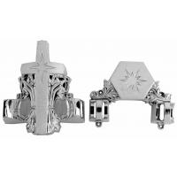 Funeral Handle And Fittings Coffin Corner 12# S In Silver Color And Pp Material