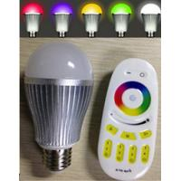 China 640000 color changing rgb led bulb Wifi or 2.4G RF touch remote 9W/6w on sale