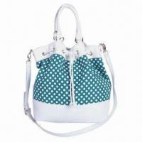 Buy cheap Synthetic Leather Draw-string Bag with Spot, Made of Canvas Cotton product