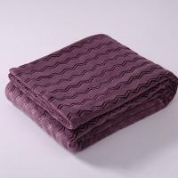 Buy cheap Cozy Solid 100 Polyester Plush Blankets / Soft Flannel Blankets Non Irritating product