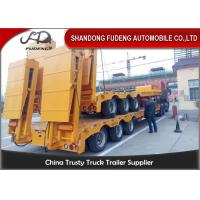 Buy cheap 80 ton Gooseneck low loader Low Bed Tractor truck trailer sale Hydraulic ramp product
