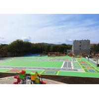 Zero Toluene Formaldehyde Outside Basketball Court Flooring With VOC Certificate