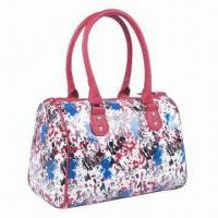 Buy cheap Laminated and Printed Cotton Twill Bag with Synthetic Leather Trim product