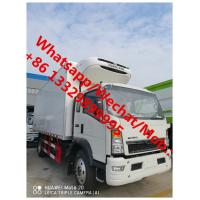 Buy cheap SINO TRUK HOWO 4*2 6 wheels light duty right hand drive howo refrigerated truck for sale, best price cold van truck, product