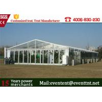 Buy cheap Clear Roof Party Tent For 300 People , Transparent Wedding Tent With PVC Fabric product