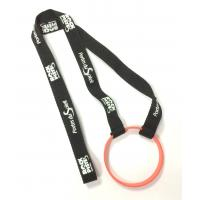 Buy cheap Custom Polyester Breakaway Neck Lanyards With Silicone Wristband product