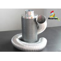 Aluminum Flange Grow Room Carbon Filter 45mm Carbon Bed Easy Installation
