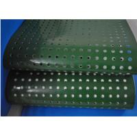 Buy cheap Green PVC Plastic Corrugator Conveyor Belt With Punching Holes For Lightweight Conveying product