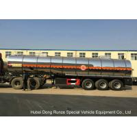 Quality SS Chemical Tanker Truck For Ammonium Nitrate / Liquid Molten Sulfur Delivery for sale