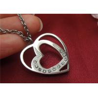 Buy cheap Unique Stainless Steel Pendant Necklace , Double Heart Pendant Necklace For Couple from Wholesalers