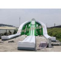 Buy cheap Giant Green Exciting Trippo Inflatable Water Slide With 3 Lane For Adult from Wholesalers