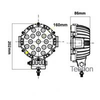 Buy cheap 51W Round LED Driving Light (LED work lamp) and LED Work Light in Oga Brand product