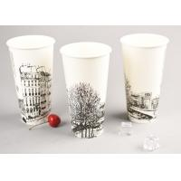 Buy cheap 500ml Ice Cream Disposable Cups With Straw , Take Out Coffee Cups OEM ODM product