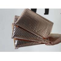 Buy cheap 6 * 10 Metallic Bubble Envelopes Shiny / Matt Surface With Rose Gold Color product