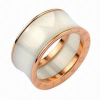Buy cheap High Finished Ceramic Ring/Brand Jewelry for Promotional Purposes product