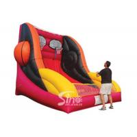 Buy cheap Custom made giant inflatable basketball throwing with hoop for indoor games product