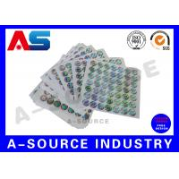 Buy cheap Silver Background Custom Holographic Stickers Security Printing For Pharmaceutical Secure Packaging product