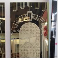Buy cheap 2019 Mirror Etched Elevator Stainless Steel Gold Sheet Interior Metal Wall from wholesalers