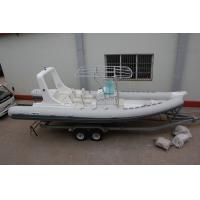 Buy cheap Double Bottom Offshore Inflatable Boats With Motor Fast Response Rough Weather product