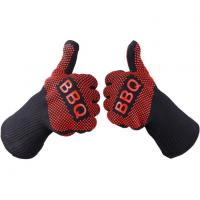 Buy cheap heat resistant silicone BBQ baking and fire resistant cooking glove product