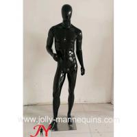 Buy cheap Jolly mannequins- Stock black glossy male mannequins full body mannequins with standing pose M-103C product