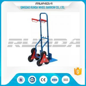 China Telescopic Heavy Duty Hand Trolley Double Wheels Powder Coating Steel Tube 200kg on sale