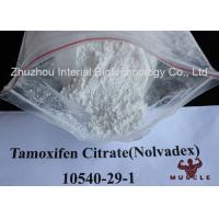 Buy cheap White Crystalline Raw Steroid Powders Nolvadex Tamoxifen Citrate Bodybuilding CAS 54965-24-1 product