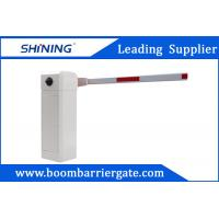 White Color 220V AC Vehicle Car Park Barrier Gate , Automatic Boom Barrier