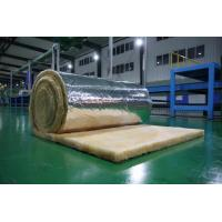 China Orange Glass Wool Blanket Applied to Roof Insulation , 10-60 kg /m3 on sale
