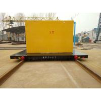 China 300T Capacity Four Caste Steel Wheels Cable Power Railroad Cart on sale