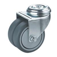Buy cheap hollow king pin twin wheels caster product