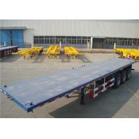 Buy cheap Carbon Steel Flatbed Semi Trailer 40000kg With Dual Line Braking System product
