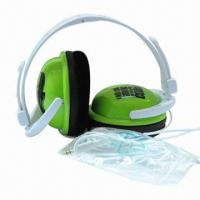 Buy cheap 20Hz-20kHz Fresh Headphone with 25mW Rated Power/3.5mm Plug/40mm Driver/6.5mm Microphone/1.5m Cable product