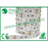 Buy cheap 4 In One Self Adhesive Colored RGB LED Strip Addressable DC12V / 24V 30LEDs/m product