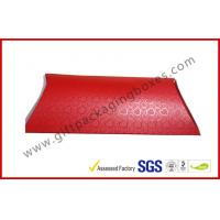 Buy cheap Handmade UV Coating Pillow Card Board Packaging Boxes , A4 B5 Red Document Card Board Box product