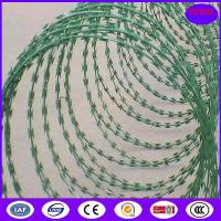 Buy cheap Concertina Barbed Tapes ,Epoxy -white color Razor wire product