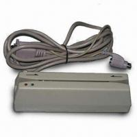 Buy cheap 1/2/3 Track Magnetic Stripe Card Readers, Can Read Hi-co/Lo-co Through Com Port or USB Interface product