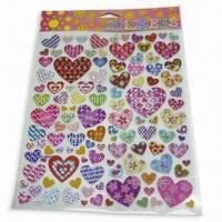 Buy cheap Non-toxic Stickers, Various Shapes, Sizes and Designs are Available product